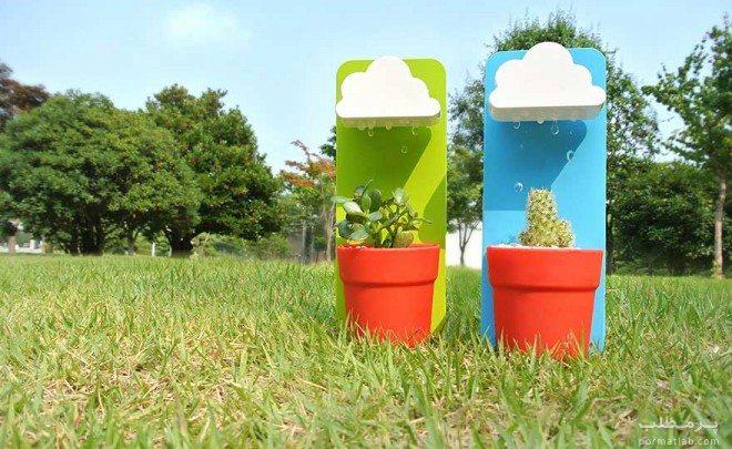 آب نمای خلاقانه برای آبیاری کاکتوس