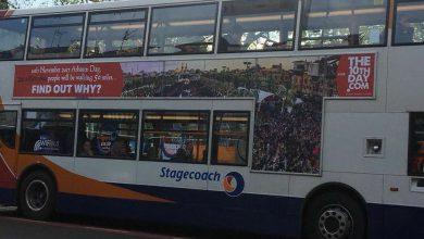 Photo of موضوع پیادهروی اربعین بر روی اتوبوسهای شهر لندن پایتخت انگلستان!