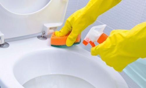 شستن توالت