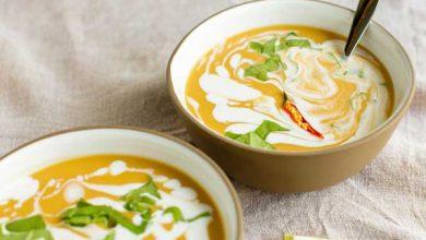 Photo of سوپ کدو حلوایی و شیر با لوبیا چشم بلبلی