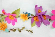 Photo of آویز بصورت گل کاغذی