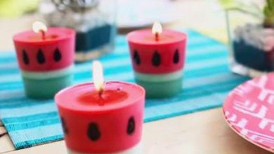 Photo of ساخت شمع با طرح هندوانه ای