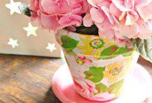 Photo of تزیین گلدان با تکیههای پارچه