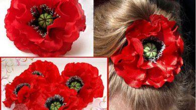 Photo of آموزش تصویری ساخت گل شقابق با پارچه