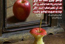 Photo of تواضع چیزى است که براى خدا و در راه خدا باشد