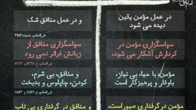 Photo of تفاوتهای مومن و منافق