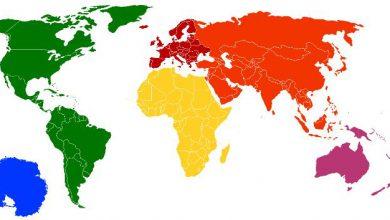 Photo of کلمات انگلیسی با موضوع قاره ها و مناطق