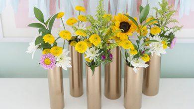 Photo of گلدانهای زیبا با لوله PVC