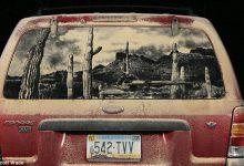 Photo of نقاشی کردن بر روی ماشین های کثیف