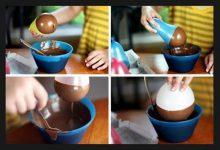 Photo of ساختن ظروف شکلاتی با کمک بادکنک
