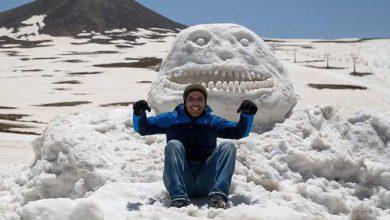 Photo of برف بازی و ساخت مجسمههای برفی در توچال
