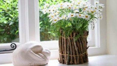 Photo of تزیین گلدان با شاخه درخت