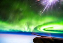 Photo of شفق های قطبی از اتاقک خلبان