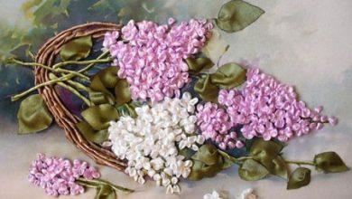 Photo of آموزش ساخت گل یاس بنفش با روبان