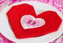 Photo of دستمال سفره به شکل قلب
