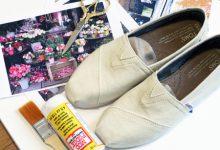 Photo of تزیین کفش کتان