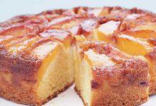 Photo of کیک هلو برگردان و بدون فر