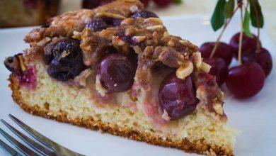 Photo of کیک آلبالویی با بادام