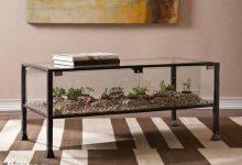 Photo of تزیین زیر میز شیشه ای با گل و گیاه