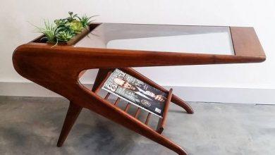 Photo of تزیین زیر میز شیشه ای با کتاب و مجلات