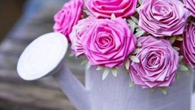 Photo of درست کردن گل رز با کاغذ