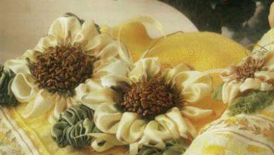 Photo of به شکل گل آفتابگردان روبان دوزی کنید