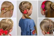 Photo of طراحی و تزیین موی کودک با طرح قلب در دو مدل