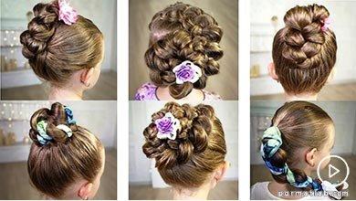 Photo of شش ایده راحت بافت موی کودک و گل های تزیینی