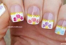 Photo of گلهای بهاری با سوزن و ابزار نقطه گذاری روی ناخن