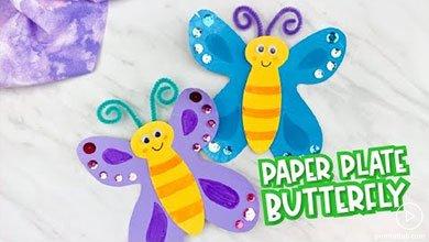 Photo of پروانههای کاغذی زیبا برای کودکان