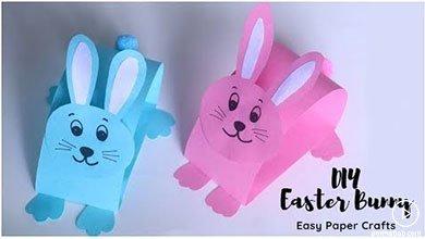 Photo of کاردستی خرگوش های کاغذی برای سرگرمی کودکان