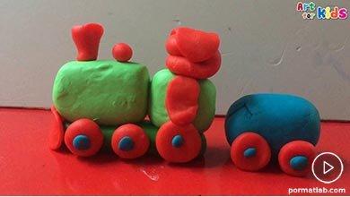 Photo of خمیر بازی به شکل قطار
