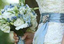 Photo of دسته گل عروس با گل هورتانسیا آبی