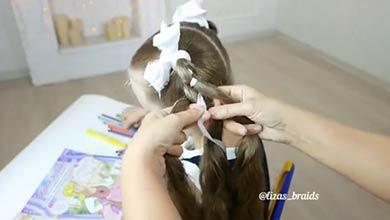 Photo of آموزش مدل بافت موی زیبای دخترانه