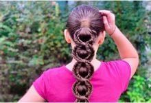Photo of بافت و شینیون موی دختر بچه