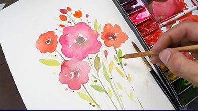 Photo of نقاشی گل با آبرنگ