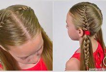 Photo of بافت موی دختر کوچولوها با مدل فرانسوی