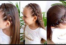 Photo of نمونه بافت هدبندی موهای دختر کوچولوها