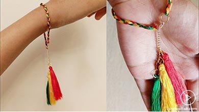 Photo of دستبند ابریشمی سرخ پوستی
