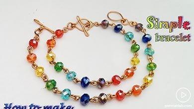 Photo of دستبند ساده با مهره های رنگی