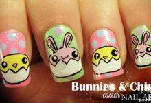 Photo of طراحی جوجه های طلایی و خرگوش های کوچولو روی ناخن
