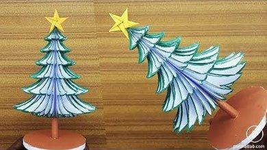Photo of درخت کاج کاغذی کریسمس