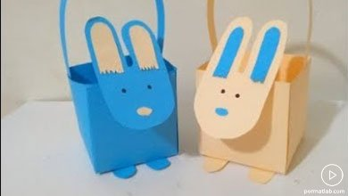 Photo of سبدهای کاغذی خرگوشی بامزه