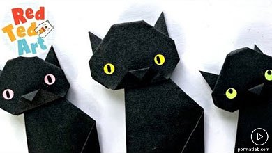 Photo of گربههای سیاه کاغذیرهالووینی