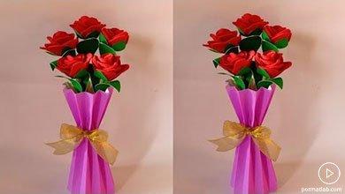 Photo of کاردستی گل و گلدون دکوری کاغذی