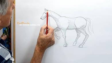Photo of آموزش نقاشی بدن اسب