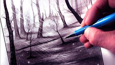 Photo of آموزش نقاشی جنگل با اتد