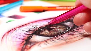 Photo of آموزش نقاشی چشم با خودکار رنگی