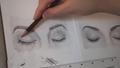 Photo of آموزش نقاشی چشم های بسته در طراحی چهره