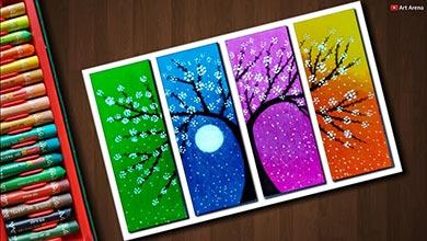 Photo of با پاستل روغنی درخت شکوفه دار نقاشی کنید